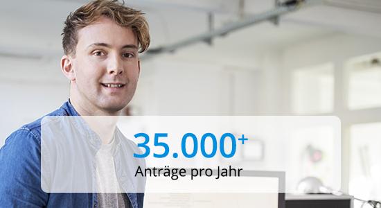 PROANDI 35000 Anträge pro Jahr