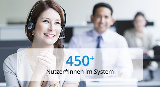 PROANDI 450 Nutzer*innen im System